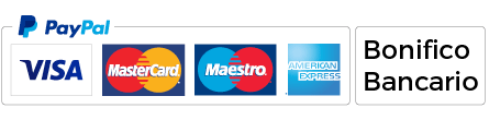 PayPal - MasterCard - Maestro - American Express
